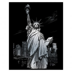 Lady Liberty Engraving Art Kit Standard - Royal Brush - Silver Foil 20.3x25.4cm (SILF34)