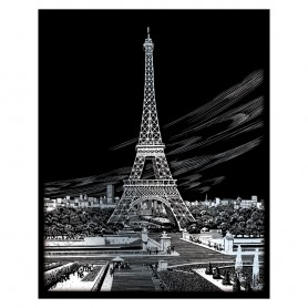 Eiffel Tower Engraving Art Kit Standard - Royal Brush - Silver Foil 20.3x25.4cm (SILF35)
