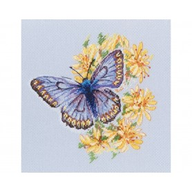 """RTO Cross-stitch kits """"Butterfly on the flower"""", Article: M750"""