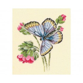 """RTO Cross-stitch kits """"Butterfly on the dainty flower"""", Article: M749"""