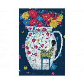 """RTO Cross-stitch kit """"Missing the flowers"""", Article: M718"""