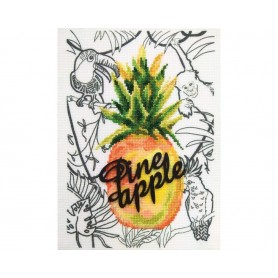 """RTO Cross-stitch kits with printed background """"Pineapple"""", Article: M70036"""