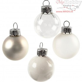 Glass Ornaments, D: 25 mm, 16pcs