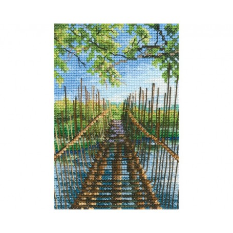 "RTO Cross-stitch kit ""Foot-bridge on the Austin lake"", Article: C313"