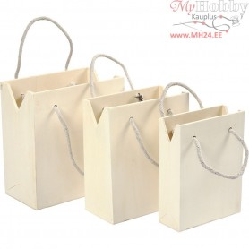Bag With Handle, plywood, 3pcs