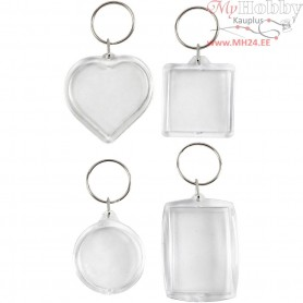 Key Rings, size 40-50 mm, 4pcs
