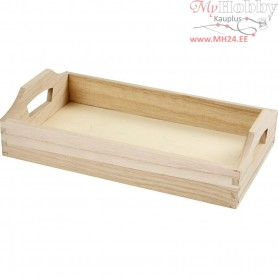 Tray, size 30x17x5 cm, inner size 27,5x15x4 cm, empress wood, 1pc