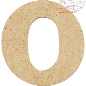 Letter, O, H: 4 cm, thickness 2,5 mm, MDF, 10pcs