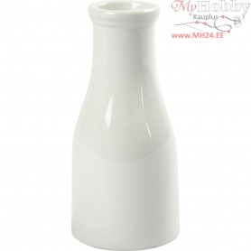 Vase, H: 13 cm,  170 ml, white, 6pcs