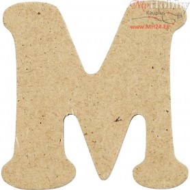 Letter, M, H: 4 cm, thickness 2,5 mm, MDF, 10pcs