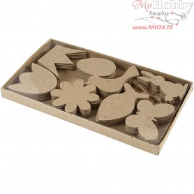 Hanging Decorations, easter, H: 5-9 cm, thickness 2 mm, 80pcs