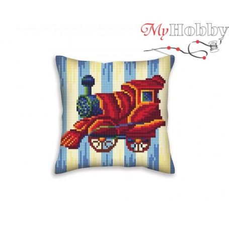 Cross Stitch Cushion Kit Nostalgia, Article: 5 402 Collection D'Art - size 40x40 cm.