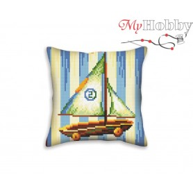 Cross Stitch Cushion Kit Nostalgia, Article: 5 401 Collection D'Art - size 40x40 cm.