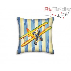 Cross Stitch Cushion Kit Nostalgia, Article: 5 400 Collection D'Art - size 40x40 cm.