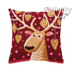 Cross Stitch Cushion Kit Christmas gingerbreads, Article: 5 390 Collection D'Art - size