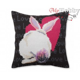 Cross Stitch Cushion Kit Love, Article: 5 381 Collection D'Art - size 40x40 cm.