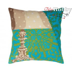 Cross Stitch Cushion Kit Lampshade, Article: 5 339 Collection D'Art - size 40x40 cm.