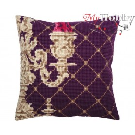 Cross Stitch Cushion Kit Candlestick, Article: 5 337 Collection D'Art - size 40x40 cm.