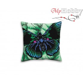 Cross Stitch Cushion Kit Butterfly graphics, Article: 5 309 Collection D'Art - size 40x40 cm.