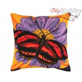 Cross Stitch Cushion Kit Butterfly graphics, Article: 5 306 Collection D'Art - size 40x40 cm.
