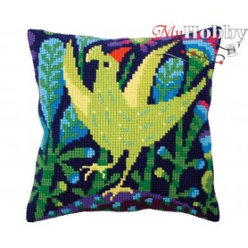 Cross Stitch Cushion Kit Serenade, Article: 5 298 Collection D'Art - size 40x40 cm.