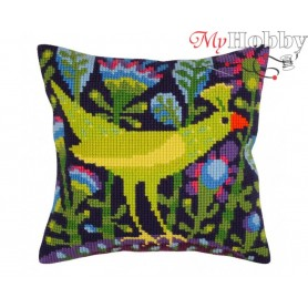 Cross Stitch Cushion Kit Serenade, Article: 5 297 Collection D'Art - size 40x40 cm.