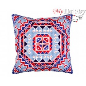 Cross Stitch Cushion Kit Persian medallion, Article: 5 375 Collection D'Art - size 40x40 cm.