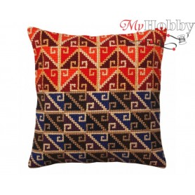 Cross Stitch Cushion Kit Peruvian ornament, Article: 5 371 Collection D'Art - size 40x40 cm.