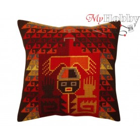 Cross Stitch Cushion Kit Peruvian ornament, Article: 5 370 Collection D'Art - size 40x40 cm.