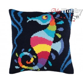 Cross Stitch Cushion Kit Sea mosaic, Article: 5 345 Collection D'Art - size 40x40 cm.