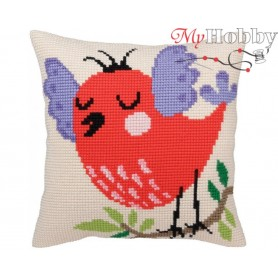 Cross Stitch Cushion Kit Spring songs, Article: 5 336 Collection D'Art - size 40x40 cm.