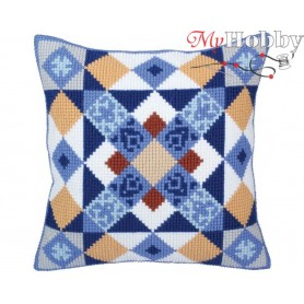 Cross Stitch Cushion Kit Majolica, Article: 5 334 Collection D'Art - size 40x40 cm.