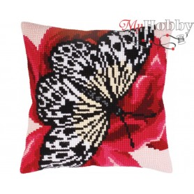 Cross Stitch Cushion Kit Butterfly graphics, Article: 5 310 Collection D'Art - size 40x40 cm.