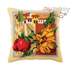 Cross Stitch Cushion Kit Tuscany, Article: 5 294 Collection D'Art - size 40x40 cm.