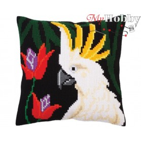 Cross Stitch Cushion Kit Night jungle, Article: 5 299 Collection D'Art - size 40x40 cm.