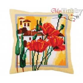 Cross Stitch Cushion Kit Tuscany, Article: 5 293 Collection D'Art - size 40x40 cm.