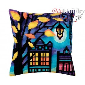 Cross Stitch Cushion Kit Twilight, Article: 5 286 Collection D'Art - size 40x40 cm.