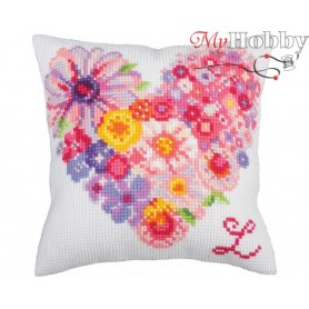 Cross Stitch Cushion Kit For you, Article: 5 263 Collection D'Art - size 40x40 cm.