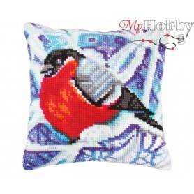 Cross Stitch Cushion Kit Winter traceries, Article: 5 251 Collection D'Art - size 40x40 cm.