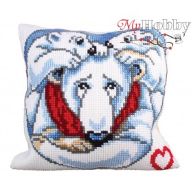 Cross Stitch Cushion Kit Father`s love, Article: 5 245 Collection D'Art - size 40x40 cm.