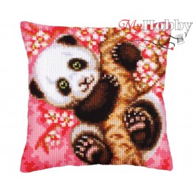 Cross Stitch Cushion Kit Hooray! It`s Spring!, Article: 5 242 Collection D'Art - size 40x40 cm.