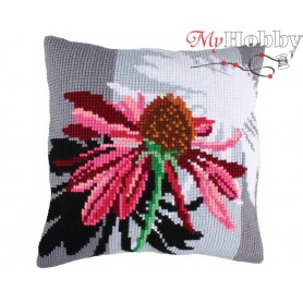 Cross Stitch Cushion Kit Shadows of flowers, Article: 5 216 Collection D'Art - size 40x40 cm.
