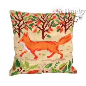 Cross Stitch Cushion Kit Red Fox, Article: 5 215 Collection D'Art - size 40x40 cm.