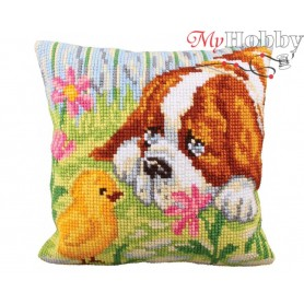 Cross Stitch Cushion Kit Encounter, Article: 5 209 Collection D'Art - size