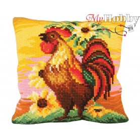 Cross Stitch Cushion Kit Top Brass, Article: 5 190 Collection D'Art - size 40x40 cm.