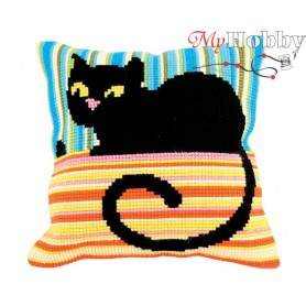 Cross Stitch Cushion Kit Mrs. Cool, Article: 5 187 Collection D'Art - size 40x40 cm.