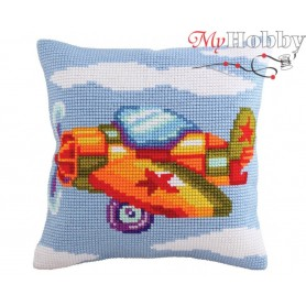 Cross Stitch Cushion Kit Fly Boy, Article: 5 176 Collection D'Art - size 40x40 cm.