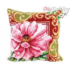 Cross Stitch Cushion Kit Luxurious Lily 1, Article: 5 173 Collection D'Art - size 40x40 cm.
