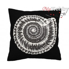 Cross Stitch Cushion Kit Graphic, Article: 5 142 Collection D'Art - size 40x40 cm.