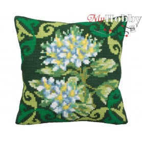 Cross Stitch Cushion Kit Ledum Green, Article: 5 125 Collection D'Art - size 40x40 cm.